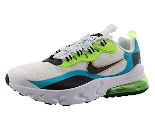 Nike Air Max 270 React Se GS Running Trainers CJ4060 Sneakers Chaussures (UK 6 us 7Y EU 40, Oracle Aqua Black Ghost Green 300)
