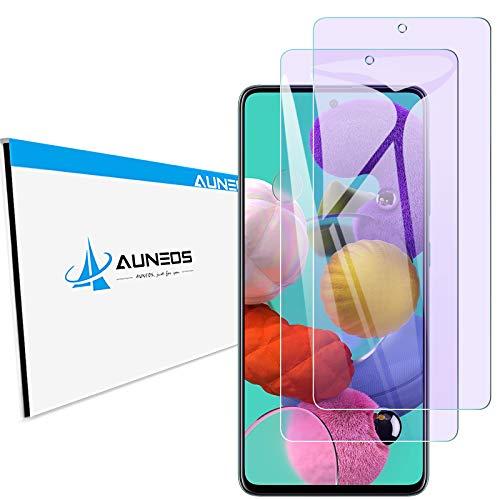 『目に優しい 』AUNEOS Galaxy A51 用 5G SCG07 フィルム ブルーライトカット 日本製旭硝子材 2.5D加工 Galaxy A51 用 ガラスフィルム 9H 0.26mm 超薄型 ケースに対応 高光沢 耐衝撃 指紋防止 ギャラクシー A51 用 強化ガラス(2枚入り)