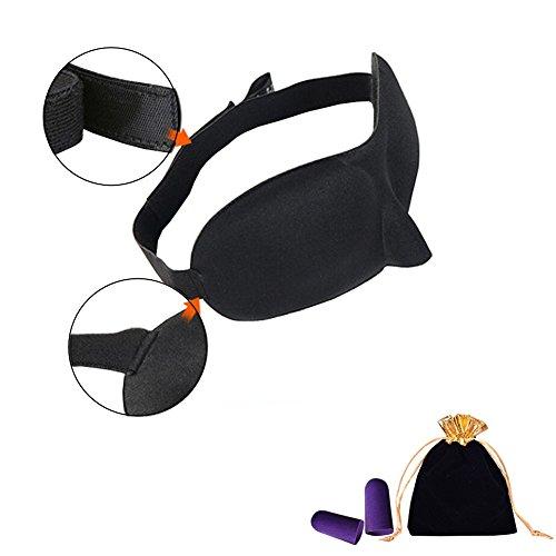 3D Sleep Eye Mask Cover - Ideaal cadeau voor man of vrouw, geronde vorm, comfortabele lichtgewicht slaapmasker voor reizen, slapen, verschuiving werk of vliegtuig reis draagtas en oordopjes inbegrepen