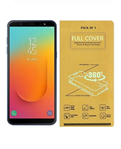 Blue Blood® 360° Buff Guard [Front + Back + Camera Lens] [Not Tempered Glass] Full Body Coverege Screen Protector for Samsung Galaxy A8 Plus − List 1080