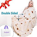 Jorbest Burritos Tortilla Blanket 2.0 Double Sided Printing for Adult and Kids, Comfort Throw Blanket, Novelty...