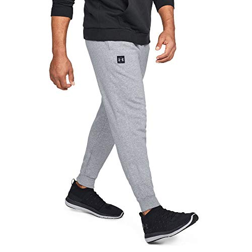 Under Armour Herren UA Rival Fleece Jogginghose, leichte Sporthose, komfortable und bequeme hose mit loser Passform, Grau (Steel Light Heather/Black 036), L