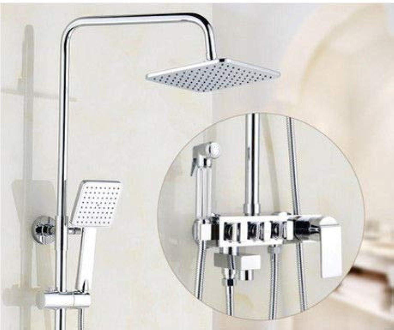 Hlluya Professional Sink Mixer Tap Kitchen Faucet Black gold-copper Shower Faucet Set B