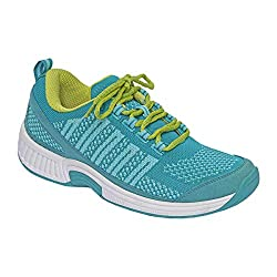 Orthofeet Coral Gray Stretchable Women's Athletic Shoes