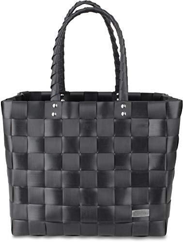 normani Einkaufskorb/Flecht-Korb/Shopping Bag mit Innentasche 20 Liter Farbe Black Money