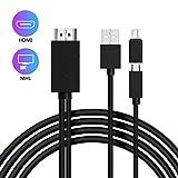 Cable adaptador micro USB a HDMI, MHL a HDMI Convertidor Android a HDMI Cable para Android Samsung Galaxy S3 S4 S5 Note 2 Tab3 para HDTV (5 pines a 11 pines)