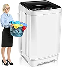 Portable Washing Machine With Drain Pump, Clothes Washing Machines, Nictemaw 1.73 Cu.Ft/17.7lbs Capacity Full-Automatic Compact Washer and Dryer Combo, 10 Programs Selections and Led Display Ideal For Home/Dorms/Rv/Apartments