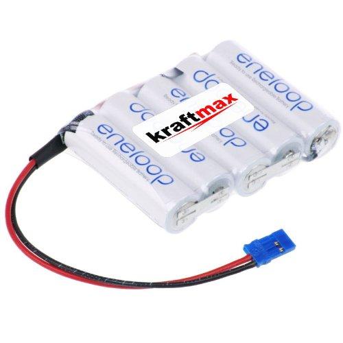 Eneloop AA Akkupack Kraftmax - Reihe [ F1x5 ] - 6,0 Volt / 2000 mAh - passend für Graupner Empfänger