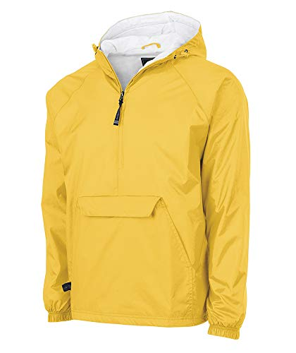 Charles River Apparel unisex adult & Water-resistant Pullover Rain (Reg/Ext Sizes) Windbreaker Jacket, Yellow, Large US
