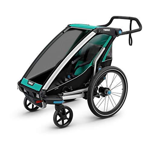 Thule Baby Chariot Lite Multisport-Anhänger, Unisex - Baby, Bluegrass-Blau, 1 Child