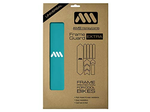 All Mountain Style AMSFG2BLWH Honeycomb High Impact Frame Guard Extra - Protects Your Bike from Scratches and dings, Blue/White
