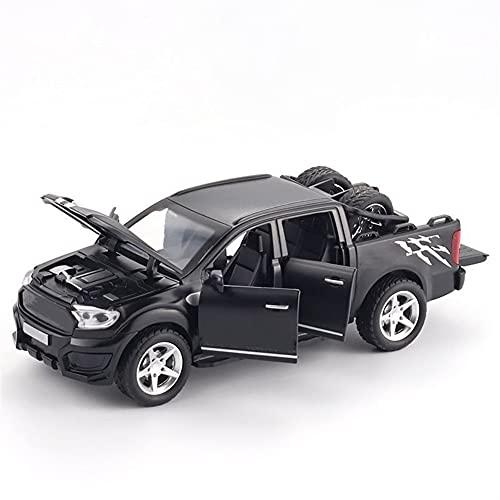 DWSM 1/32 para FO-RD para Raptor F350 Pickup Modelo Modelo Modelo Modelo Modelo Diecast Car Toy Sound Light Off-Road Vehículo para Niños Juguete simulación Niño Coche De Juguete (Color : Black)