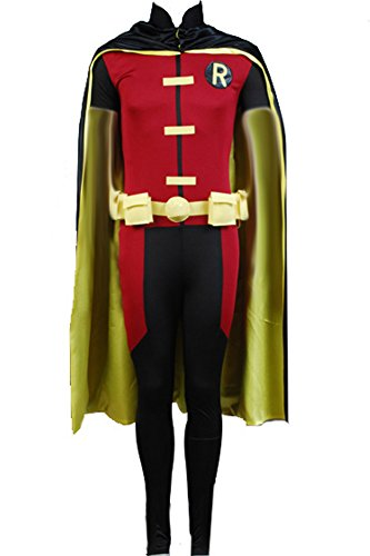 Cosplaysky Young Justice Robin Cosplay Halloween Costume Small Black