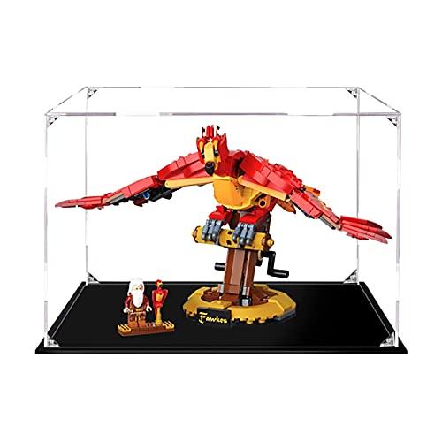 Sungvool Vitrina de acrílico transparente para Lego Harry Potter Fawkes Dumbledores Phönix 76394 de una sola pieza, a prueba de polvo para Lego 76394 (juego Lego no incluido)