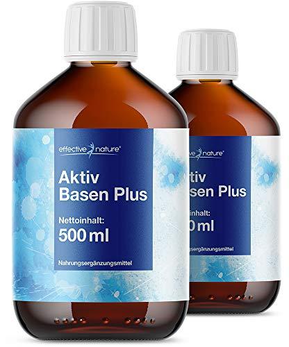 effective nature Aktiv Basen Plus Konzentrat im Sparpaket – 2x 500 ml, Mit einem basischen pH-Wert von 11,4, zur Unterstützung Ihrer Basenkur
