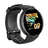 IOWODO Smartwatch Donna Uomo 5ATM Impermeabile Cardiofrequenzimetro con Saturimetro(SpO2) Sonno Orologio Fitness Tracker Contapassi Smart Watch Notifiche Messaggi Controller Musicale Per Andriod IOS