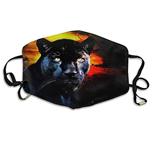 Panther Gezicht Masker, Herbruikbare Polyester Gezicht Mond Masker Respirator Voor Fietsen Anti-Stof Voor Mannen Vrouwen Kinderen