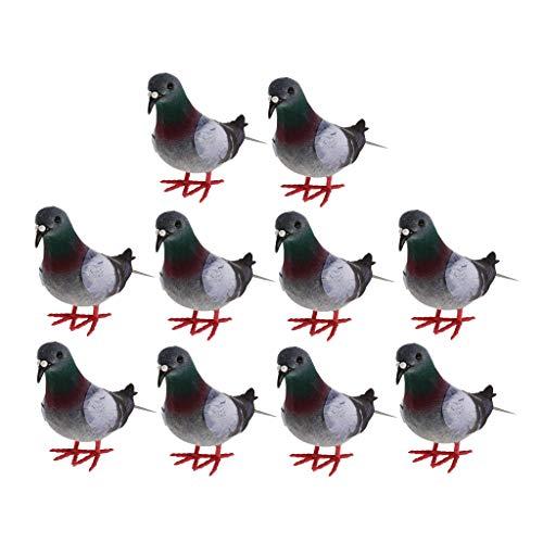 #N/A Feathers Crafts - Pájaros artificiales realistas (10 unidades)