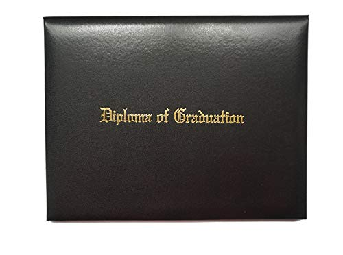 Diploma Cover Smooth Imprinted'Diploma Of Graduation'Certificate Cover Grad Days Black