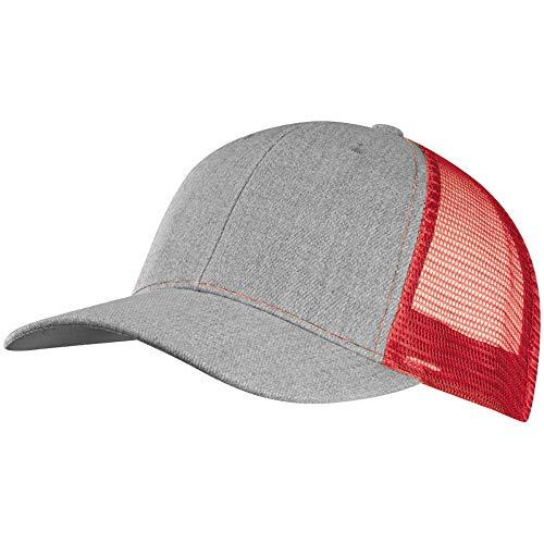 noTrash2003 Baseball Cap mit Mesh-Einsatz in versch. Farben, Coole Basecaps für Sport und Freizeit für Damen und Herren (Rot)