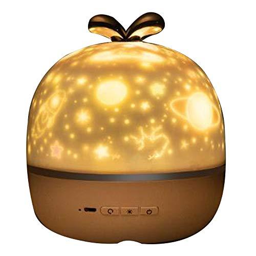 JVSISM Baby Music BT Altoparlante Proiettore Cosmic Notte Stellata LED Luce Notturna Carica USB Carillon Regali di Natale per Bambini