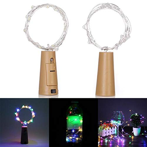 0 Inch Gas Powered Chainsaw String Light Colorful Light Earth Color Full Tool Kit for Cutting 20 LED Mini Bottle Stopper