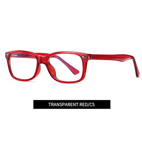 Sonnenbrille Blaulicht Blockierende Glas Frauen Anti Blue Ray Brille Computerbrille Tv-Spiele Müdigkeit Blau Blockierende Brille-C5_Red