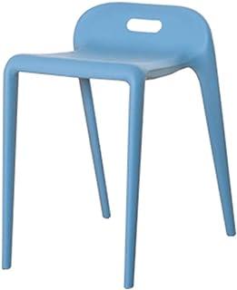 WEIZI Taburete de plástico sillas de Comedor de Cocina Silla Moderna de Estilo Europeo Ideal para el hogar Cocina Sala de Estar sillón Azul