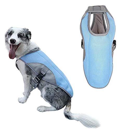 hongyupu Ropa para Perros Chaleco Refrescante Perro Perro frío Chaleco Chalecos de refrigeración para Perros Abrigos Frescos para Perros Blue,m