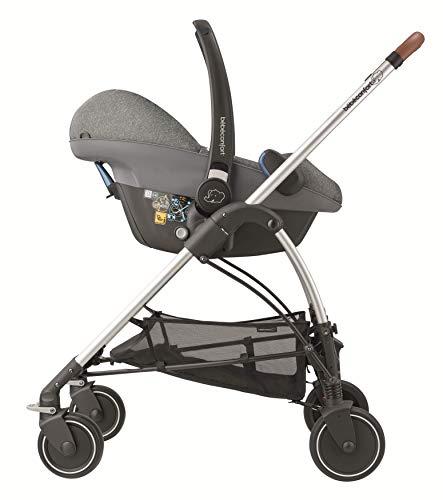 B/éb/é Confort ZELIA Nomad Black color negro dise/ño compacto sistema plegable para bebes de 0 meses hasta 3,5 a/ños Cochecito urbano 2 en 1