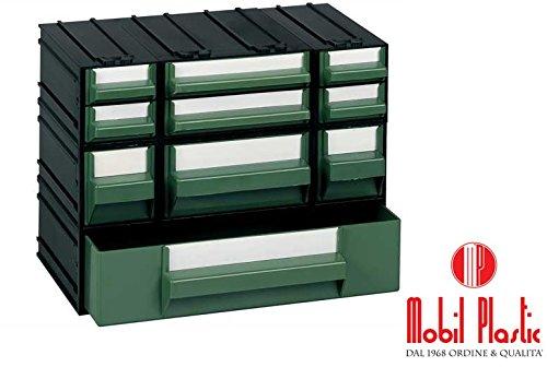 cassettiere mobil plastic 'M' composte da 10 cassetti
