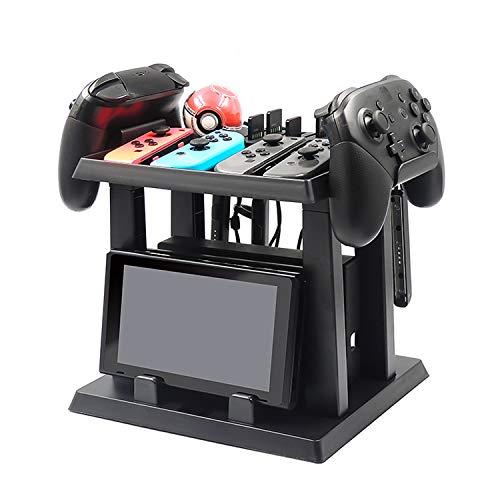 DeHasion - Soporte multifuncional para consola Nintendo Switch y 2 controladores de bola más soporte