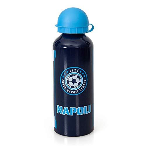 Borraccia in Alluminio Napoli Azzurri PARTENOPEI con BECCUCCIO E Coperchio 500 ML - 99330