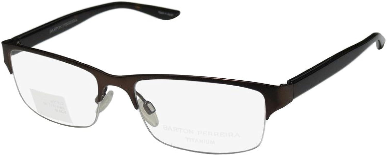 Barton Perreira Clifton Mens Womens Designer Halfrim Titanium Must Have Eyeglasses Spectacles