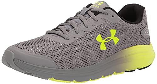 Under Armour Men's Surge 2 Running Shoe, Concrete (109)/High-Vis Yellow, 11