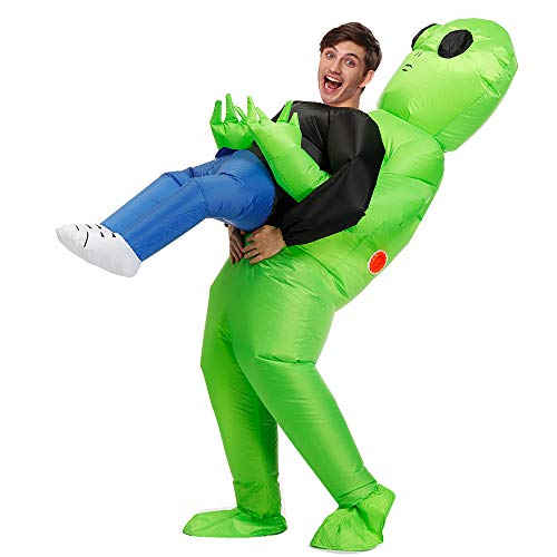 Decalare Adult Size Alien Inflatable Costumes Unicorn Fancy Blow Up Costume Halloween Cosplay Fantasy Costume