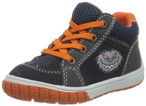 Lurchi Baby Jungen BEO Sneaker, Blau (Navy Orange 42), 23 EU