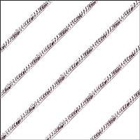 【42cm/シルバー】1.1ミリ ツイスト ネックレス チェーン ステンレス