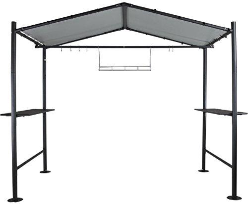 osoltus Grillpavillon Grillzelt Milano 2,65 x 2,35 m grau