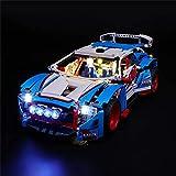 HYQX Kit de luces LED para Lego 42077 Technic Rally Car – Juego de luces de iluminación compatible con Lego 42077 (juego de luces LED solamente, sin kit de lego)