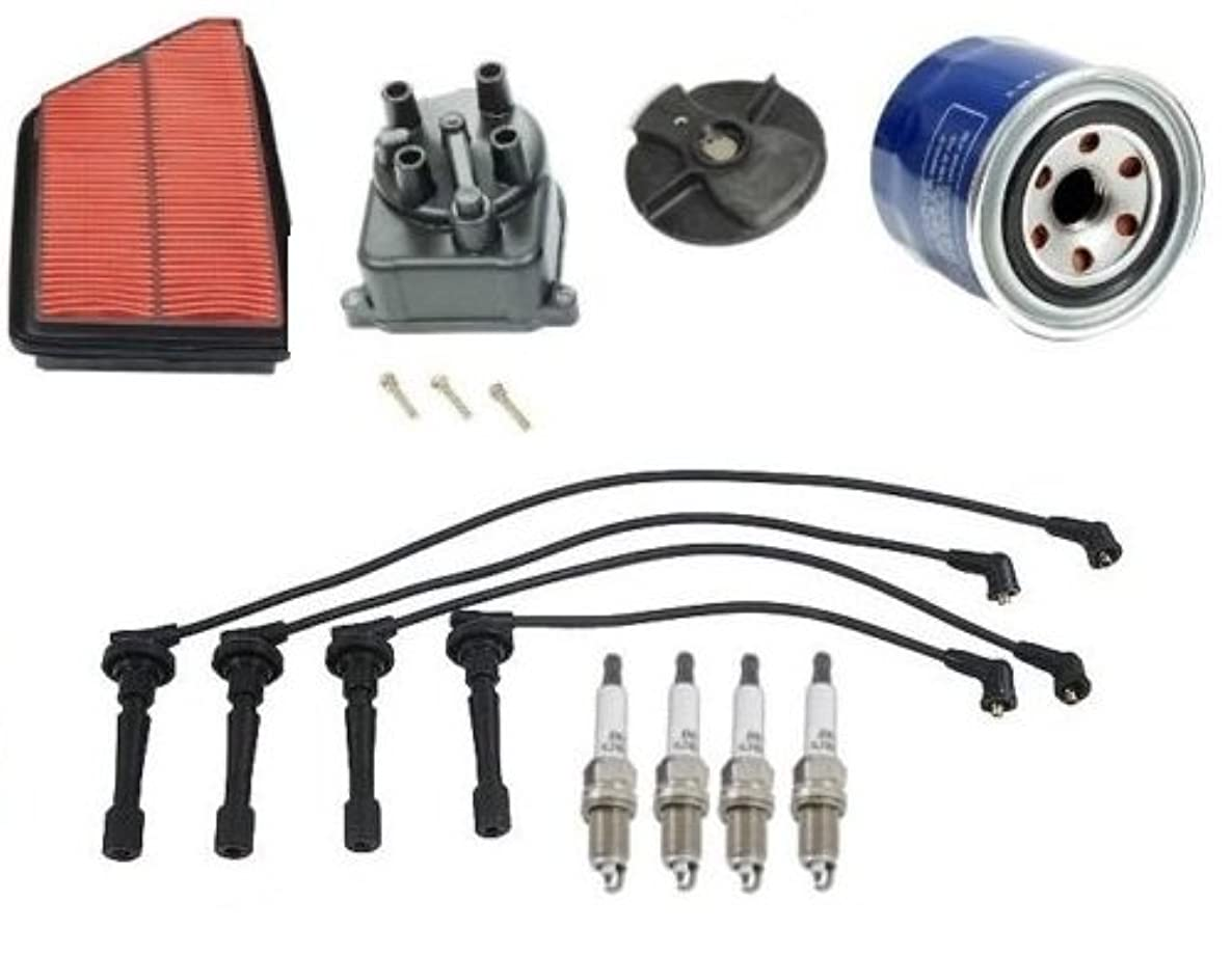 Tune Up Kit Air Oil Filter Cap Rotor Spark Plugs Wire Set Acura Integra 1992 1993 L4