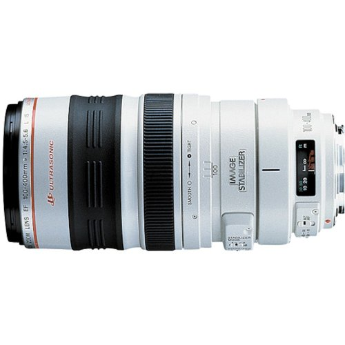 Canon EF 100-400mm f/4.5-5.6L IS USM - Objetivo para Canon (Distancia Focal 100-400mm, Apertura f/4.5, Zoom óptico 4X,estabilizador óptico, diámetro: 92mm) Color Blanco