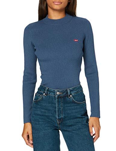 Levi's Crew Rib Sweater Maglione, Blue Indigo, XS Donna
