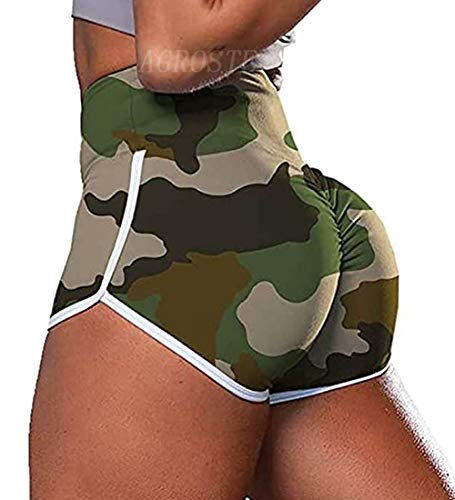 Women's High Waist Workout Gym Shorts Ruched Butt Lifting Shorts Booty Shorts Daisy Dukes Shorts Running Lounge Sexy Lingerie