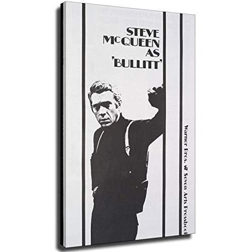 Movie Star Steve McQueen Vintage Cuadros de pintura de arte de pared impresos en lienzo Animal La imagen para la decoración moderna del hogar Unframe-style1 32×48inch(80×120cm)