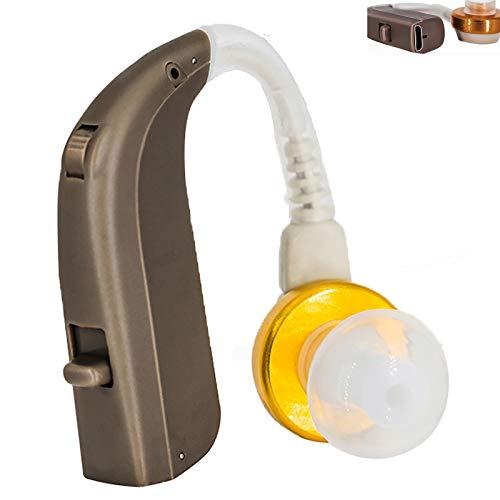 YJY Amplificador de audición Recargable reducción de Ruido Volumen Ajustable Invisible Amplificador de Sonido en la Oreja Adecuado para Varias Ocasiones,pcs