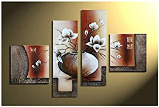 Tremendous Contemporary Art Flowers Paintings Wall Art Home Complete Home Design Collection Epsylindsey Bellcom
