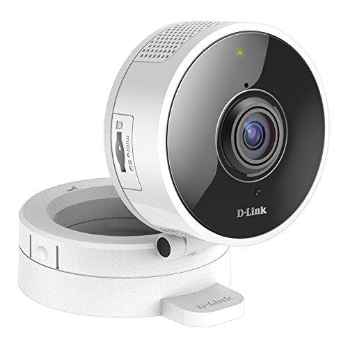 D-Link DCS-8100LH - Cámara IP WiFi con Acceso Desde móviles, visión 180°, grabación en la Nube y en el móvil, HD 720p, visión Nocturna, Ranura MicroSD, Compatible Amazon Alexa y Google Home