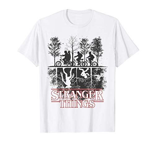Stranger Things The Upside Down Logo Maglietta
