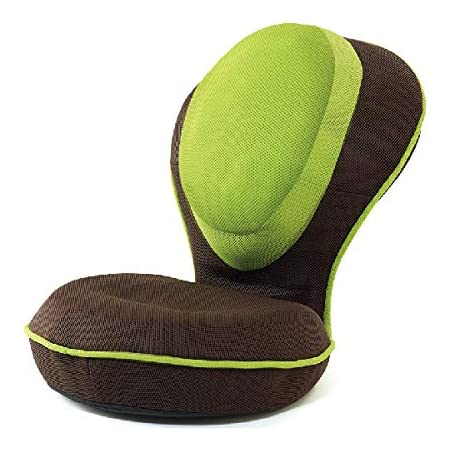 背筋がGUUUN美姿勢座椅子リッチ(本体・カバーセット)メッシュグリーン
